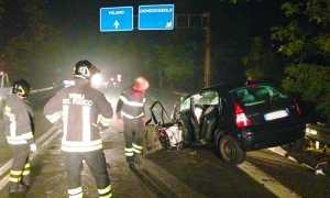 auto vigili incidente