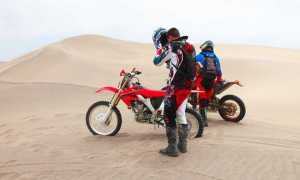 moto deserto
