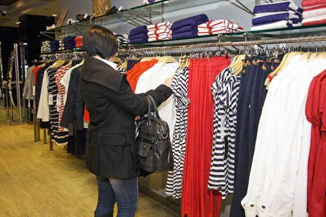 negozio abbigliamento saldi