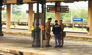 polizia militari stazione binari