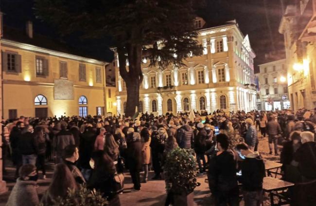 proteste covid piazza